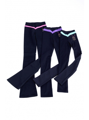 Leggings with color inserts